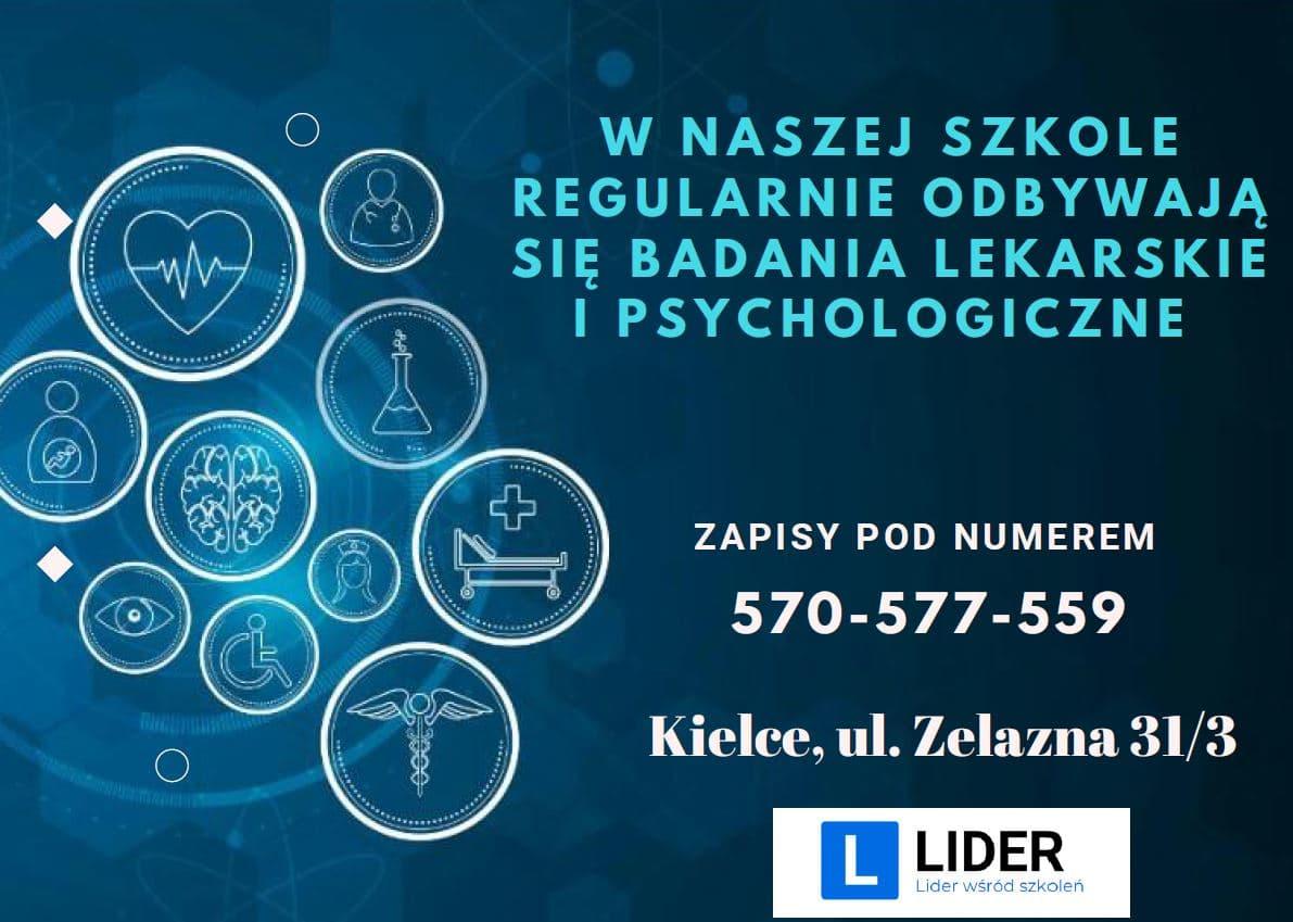 badania lekarskie i psychologiczne dla kierowców Kielce